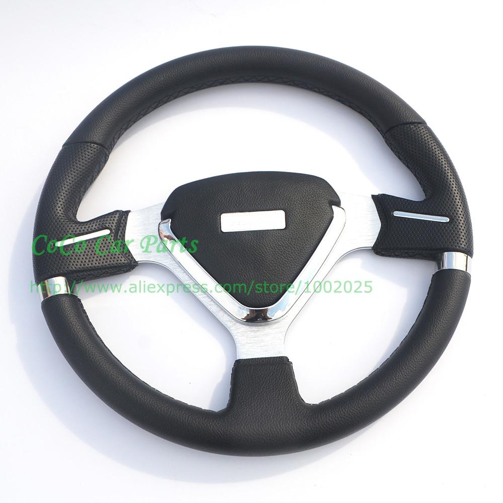 Sport Auto Steering Wheel Sport Flat Racing Car Steering Wheel 350mm Universal Fitment