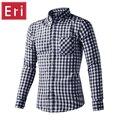 2017 de Los Hombres de Camisas A Cuadros de Algodón Camisas Casual Male Manga Larga de Alta Calidad slim fit camisa casual de negocios ee. uu. tamaño sml xl x436