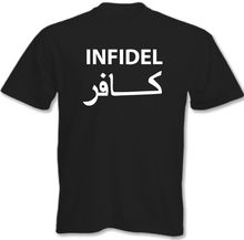 Infidel Mens Funny Atheist Atheism T-Shirt Army Military Paras Marines Iraq  Tops Tee New Unisex free shipping