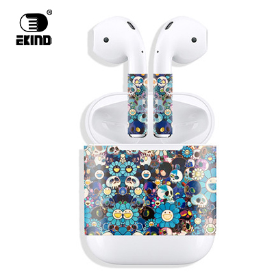 New Release Protective Vinyl EKIND Sticker earphone For Apple AirPods Skins Removable Adhesive Decorative Decal Wrap head Film