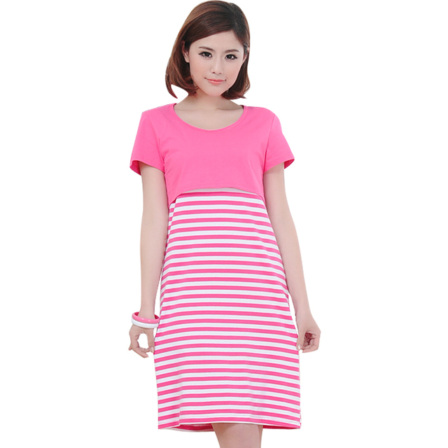US $28.56 |Summer Maternity Cotton Nursing Dress Fashion Mothers  Breastfeeding Dresses Pregnant Women Plus Size Long Clothing Feeding  Cloth-in Dresses ...