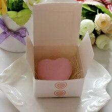 1 шт. мыло ручной работы в форме сердца для ванной, подарок для свадебной вечеринки, подарок на день Святого Валентина