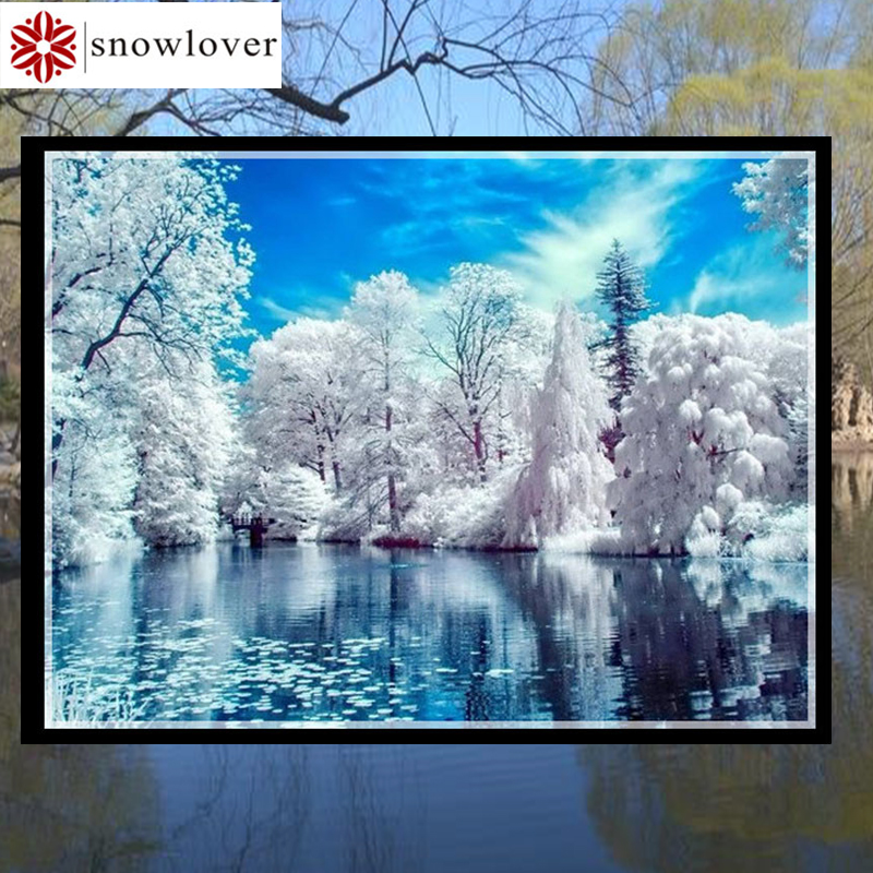 Snowlover,Needlework,Embroidery,Landscape Painting,cross stitch kits 14ct Snow home Cross-stitch,Sets For Embroidery,christmas