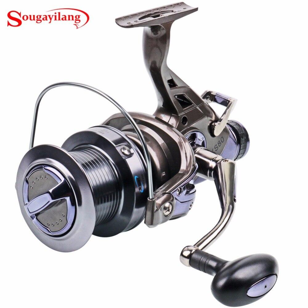 Sougayilang Fishing Spinning Reel 9+1 Bearing Balls Spinning Reel Super Strong Fishing Reel 4.1:1 Carp Spinner For Fishing professional spinning fishing reel