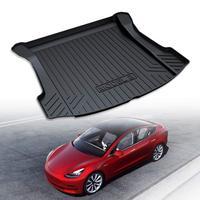 Trunk Mats Customized for Tesla Model 3 Cargo Liner Rear Cargo Tray Trunk Floor Mat Black Rubber Waterproof