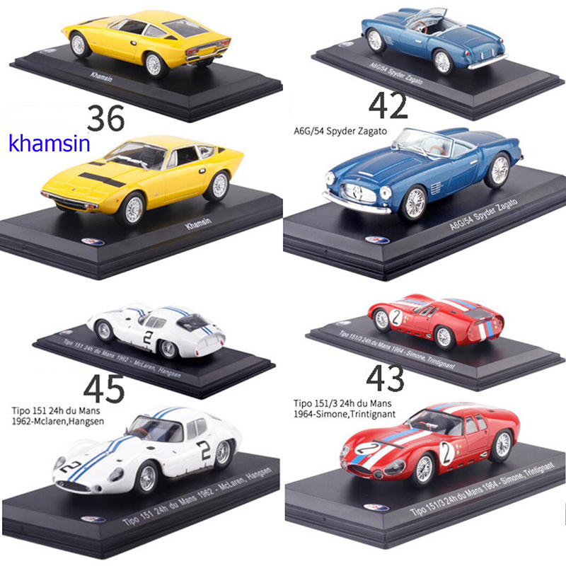 1:43 Scale Metal Alloy Classic Maseratis Racing Rally Car Model Diecast Vehicles Toys Collection Display With Transparent Cover