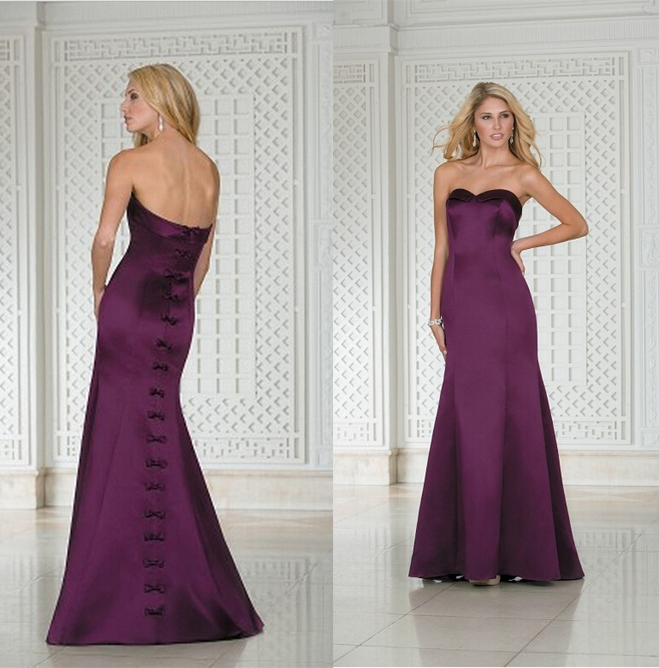 Gown scarf picture more detailed picture about fashionable floor fashionable floor length full figure dark purple bridesmaid dresses fuchsia bride maids long party satin gowns ombrellifo Image collections
