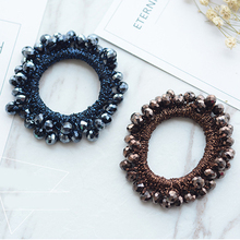 2018 Women Luxury Crystal Elastic Hair Bands Bows Scrunchy Handmade Rubber Band Headbands Accessories Ring