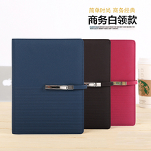 Купить с кэшбэком 2015 Fashion design leather notebook diary with lock spiral notebook agenda planner organizer  ring binder note book stationery