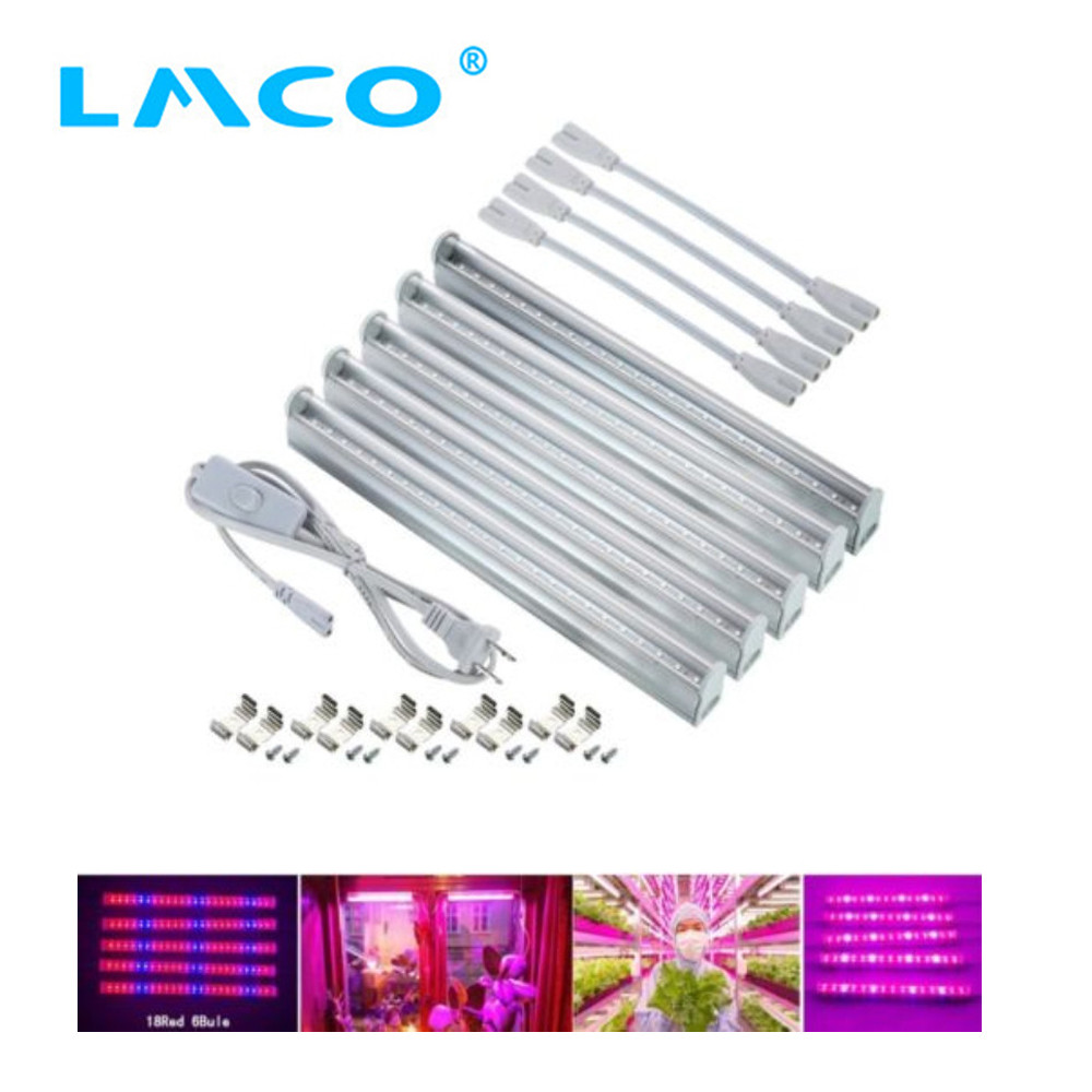 LMCO Indoor Plant Led Grow Light Full Spectrum T5 30cm Vegetable Growing Tubes