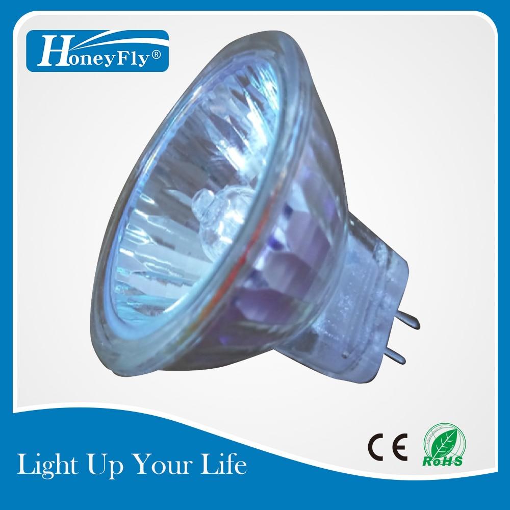 HoneyFly 5pcs Dimmable MR11 Halogen Lamp 12V 10W 20W GU4 Halogen Bulb Spot Light Warm White Clear Glass Indoor Halojen Lamba in Halogen Bulbs from Lights Lighting