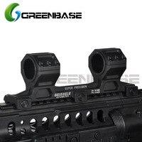 Greenbase Tactical AR15 Scope Mount Gun Rifle GE Scope Mount 25.4mm/30mm Scope Ring Mount Long Version For 20mm Picatinny Rail