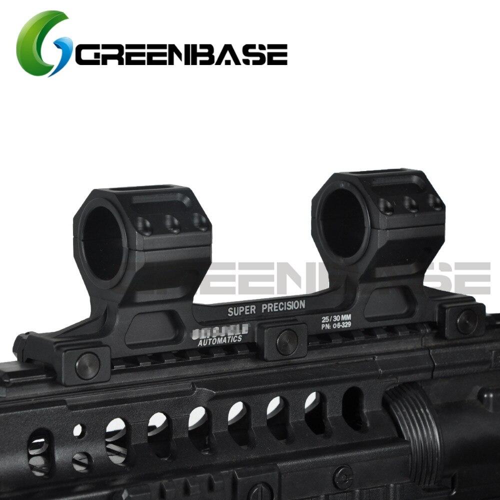 Escopo de Montagem Versão para 20mm Greenbase Tático Arma Rifle ge Montagem 25.4mm – 30mm Escopo Anel Longa Picatinny Ferroviário Ar15