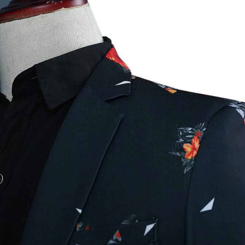 Приталенный черный Официальный Мужской костюм джентльмен 2018 индивидуальный Выпускной Мужской Блейзер 3 шт Мужские костюмы для жениха смок... - 4