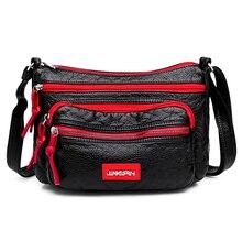 купить Contrast color Hobos Washed PU Leather Messenger Bag Contracted Joker Soft Crossbody Bag for Women Solid Rural style Leisure Bag по цене 830.42 рублей