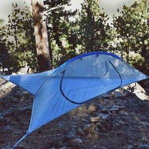 Image 5 - Ultralight Camping Boom Hangmat Bed Outdoor Wandelen Reizen Boom Tent Drie Bomen Opknoping Tent Familie Multi Functionele Tent Bed
