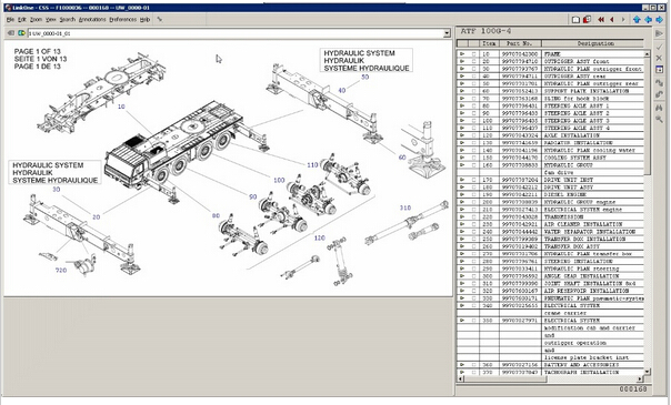 Tadano Spare Parts Catalog 2016 Cranes Truck Crane GS/GT, HK/OC, TG