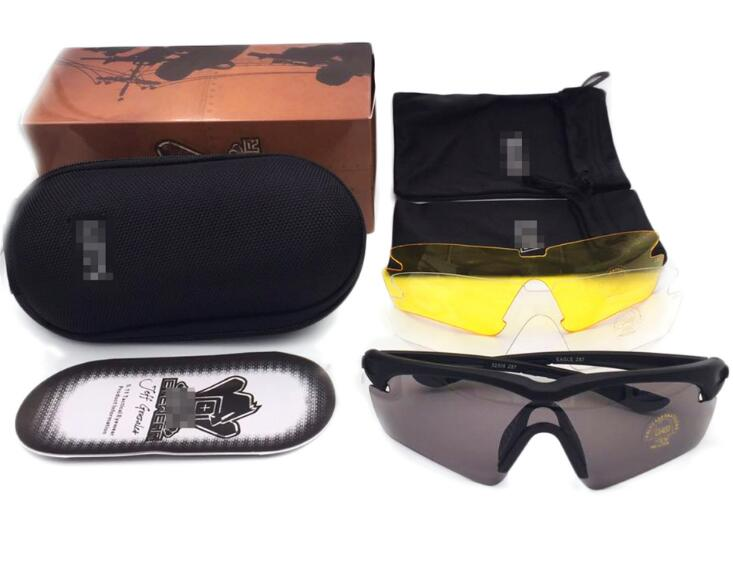 3 Lens Brand  Full Package TR90 Tactical Goggles Men Sunglasses Eyewear Outdoor Cross army Gafas sports glasses vole
