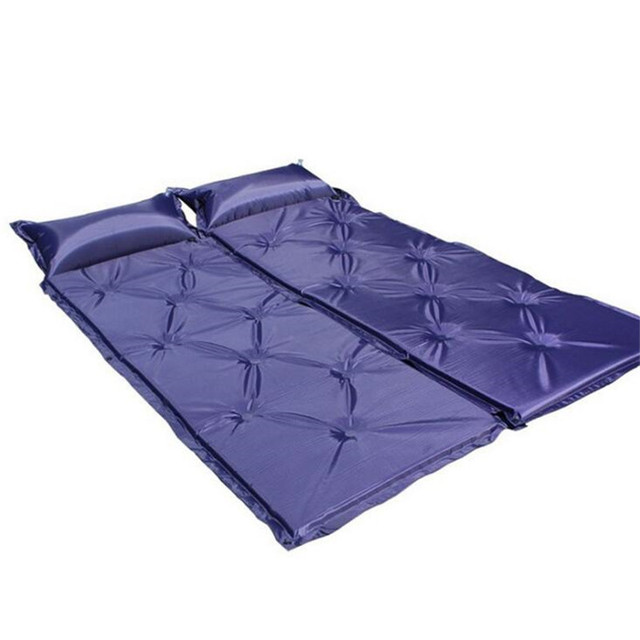 2 Pcs A Lot Outdoor Blue Camping Air Mat Single Person Use Inflated Mattress With