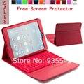 Беспроводная Связь Bluetooth Силикона QWERTY Клавиатура PU Кожаный Чехол Стенд Случае для Apple iPad AIR для ipad 5-9.7 дюйма таблетки (красный)