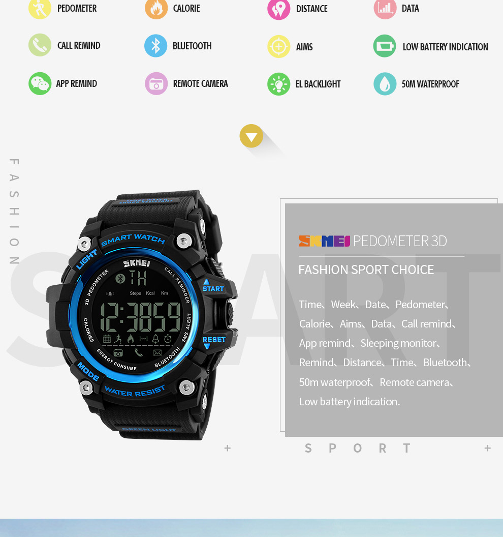 SKMEI Men Smart Watch Pedometer SKMEI Men Smart Watch Pedometer HTB14EfiSXXXXXXYXXXXq6xXFXXXP