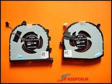 Original para dell para xps 15 9570 ventilador de refrigeração tk9j1 08yy9 l + r teste ok