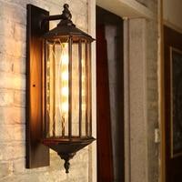 Antique outdoor waterproof wall lamp new Chinese corridor balcony industrial outdoor wall lamp garden courtyard wall lamp