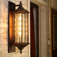 Antique outdoor waterproof wall lamp new Chinese corridor balcony industrial outdoor wall lamp garden courtyard wall lamp