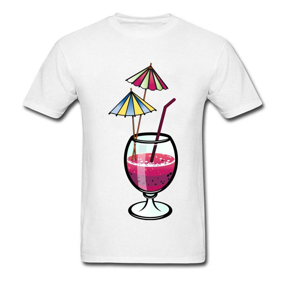Party Goblet Print Men White T Shirt Short Sleeve Casual Style Summer Soft Cotton Tee Shirts Cartoon Design Sweatshirts