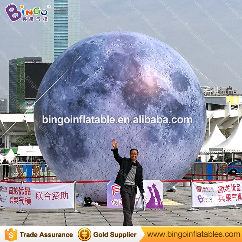 2m dia. inflatable moon ball, moon balloon with led light
