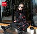2016 Мода девушки Вниз куртки/пальто зима Россия детские Пальто толстая утка Теплая куртка Детей Outerwears HB1166