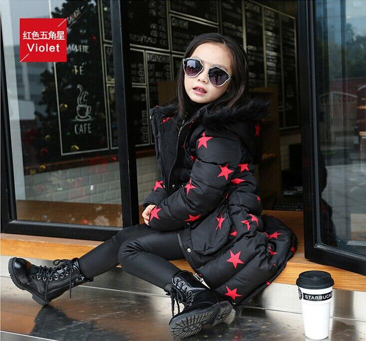 2016 mode fille vestes/manteaux hiver russie bébé manteaux épais canard chaud veste enfants vêtements d'extérieur HB1166