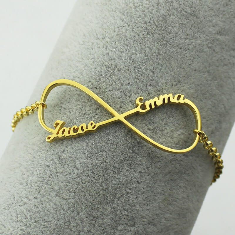 shop symbol ktcollection gold handmade product infinity bracelet