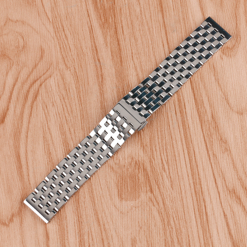 20mm 22mm Adjustable Stainless Steel Watch Band for Men Women Watches Wristwatch Strap Metal Bracelet Solid Link + 2 Spring Bars 20mm 22mm 24mm men solid stainless steel watch band metal bracelets strap wrist watches replacement for men s women s wristwatch