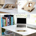 LAGUTE TP2 Universal Laptop Computer Stand Natural Bamboo for Desk Portable Stand Dock Holder for Notebook Pad Macbook Pro