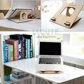 Lagute TP2 Universal soporte del ordenador de bambú Natural para escritorio portátil soporte del muelle del para el cuaderno Pad Macbook Pro