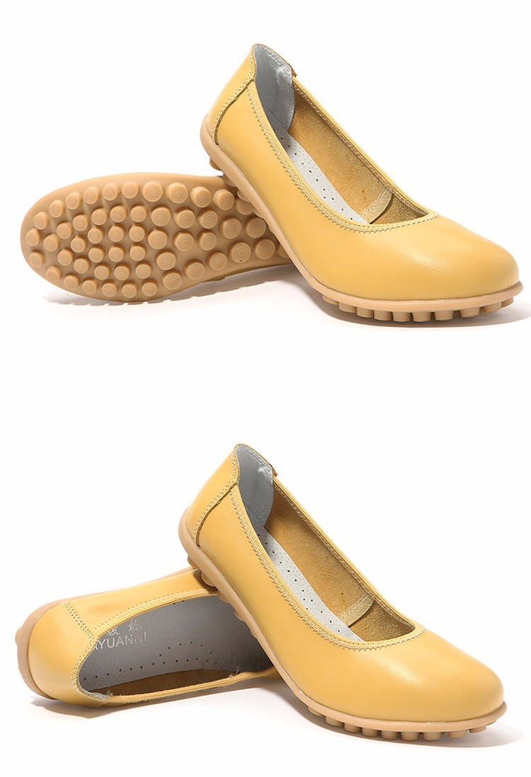 New 2016 Women Leather Shoes Slip-on Ballet Women Flat Comfort Shoes Woman Chaussure Homme Women Loafers BT94 (2)