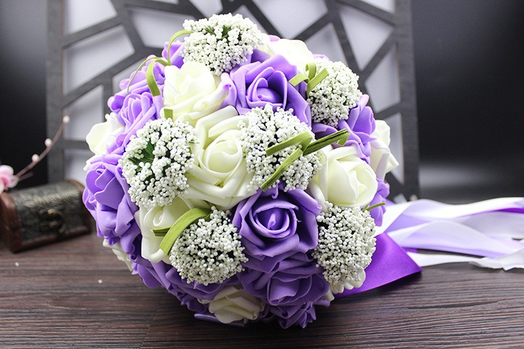 Wedding Bouquet de mariage Bridal Bouquet Wedding Bouquet Bridesmaid Artificial flower Boeket buques de noivas Bruidsboeket (6)