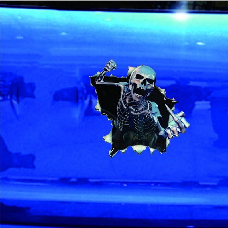 1vnt SEEYULE Naujas atvykimas Crazy kaukolė juokingi automobilio - Automobilių išoriniai aksesuarai - Nuotrauka 3