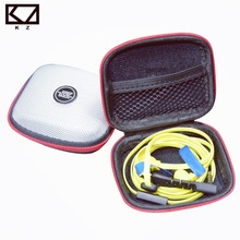 KZ Case for Headphones Earbud Hard Carrying Case Pouch Storage Bag SD Memory Card U Disk Box Square Zipper Earphones Accessories