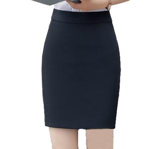 Image 4 - חצאיות נשים קיץ 2019 נשים שחור חצאית בתוספת גודל אישה גבוהה מותן OL חצאית אופנה נשים Workwear Bodycon עיפרון חצאיות 5XL