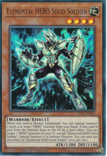 Yu-gi-oh!  Soldier Solid, Heros Elementary: Ct15-fr003 - Vf/ultra Rare