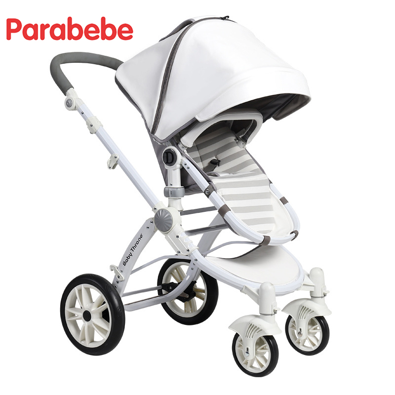 White Ivory Color Luxury Baby Stroller Kids European Strollers 2018 Hot New Pram With Big Bassinet Children Cart Infant Carriage certified baby products baby buggy stroller with pad 600d oxford fabric kids pram and strollers 4 colors infant carriage on sale