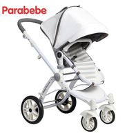 White Ivory Color Luxury Baby Stroller Kids European Strollers 2018 Hot New Pram With Big Bassinet Children Cart Infant Carriage
