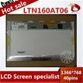 Бесплатная Доставка LTN160AT06 HSD160PHW1 16.0 Ноутбук ЖК-Дисплей Панель для ASUS N61VG N61J X66IC 1366*768 40 pins
