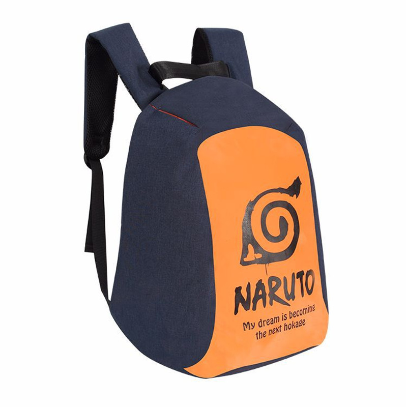 New Anime Naruto Ninja Next Hokage Backpack Bag Anti Theft School Rucksack Student Book Bag Cosplay For 14 Inch Laptop 2017 new naruto school backpack anime bag cosplay cartoon student leisure back to school 17 backpacks laptop travel shouler bag