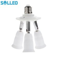 3 in 1 E27 Socket SplitterLamp Base Adjustable Base Light Lamp Bulb Adapter Holder Socket Splitter 1 to 3 With Best Price(China)