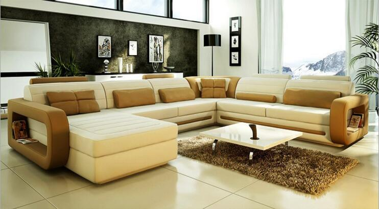 modern style  living room Genuine leather sofa a1281