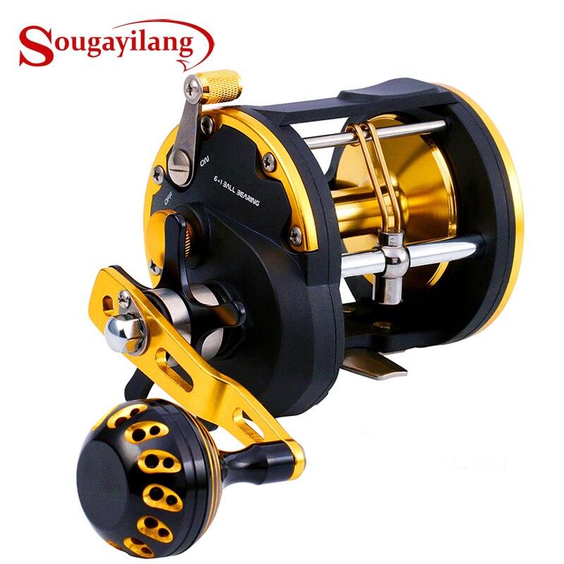 Moulinet de pêche à la traîne Sougayilang haute résistance moulinet de pêche en mer appâts de pêche moulinet de pêche à la traîne moulinet de pêche à la traîne 30 kg maximum