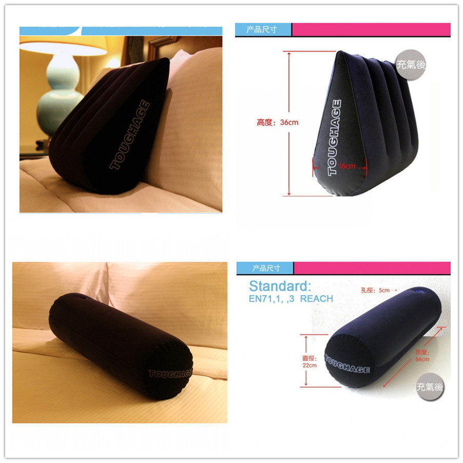 2Pcs/Lot PF3101+PF3102 Toughage Sex Position Pillow Cushion Inflatable Adult Sex Furniture Bed Wedge Pillow For Sex Game Couples